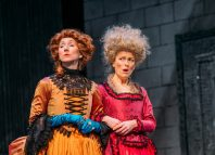 Pauline Knowles and Nicola Roy in The Belle's Stratagem at Royal Lyceum Theatre, Edinburgh. Photo: Mihaela Bodlovic