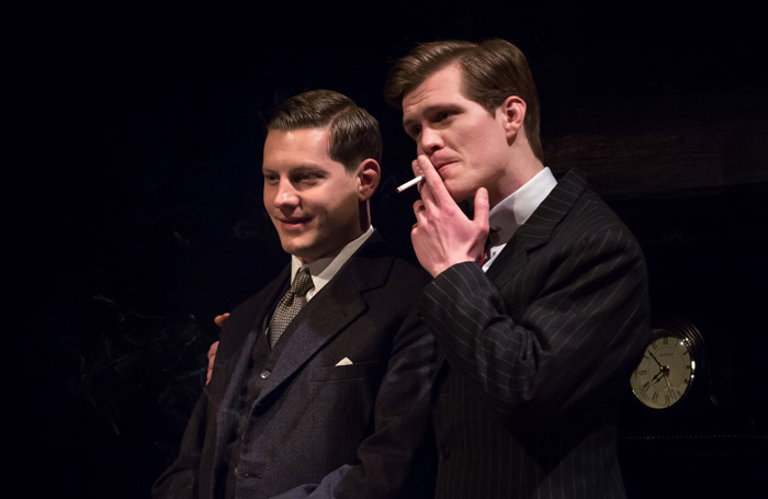 James Sutton and George Kemp in Rope at Queen's Theatre, Hornchurch