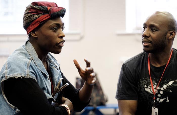 Gloria Onitiri and Chris Jack in rehearsals for Brighton Rock rehearsals. Photo: Ben Pugh