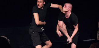 Adam Willis and George Vere in A Serious Play About World War II at Vaults, London