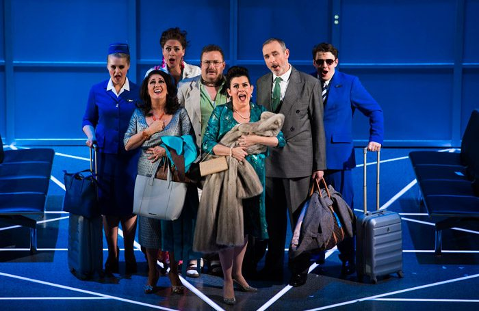 The cast of Scottish Opera's Flight. Photo: James Glossop
