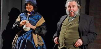 Claire Storey and Howard-Chadwick n Northern Broadsides' Hard Times. Photo: Nobby Clark