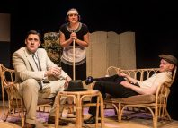 The cast of Crimes Under the Sun at Ustinov Studio, Bath. Photo: Pamela Raith