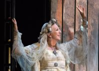 Nichola McAuliffe in Great Expectations at Yvonne Arnaud Theatre, Guildford. Photo: Lisa Roberts