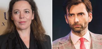 Olivia Colman and David Tennant (pictured in Don Jun in Soho). Photos: Cameron Slater and Helen Maybanks