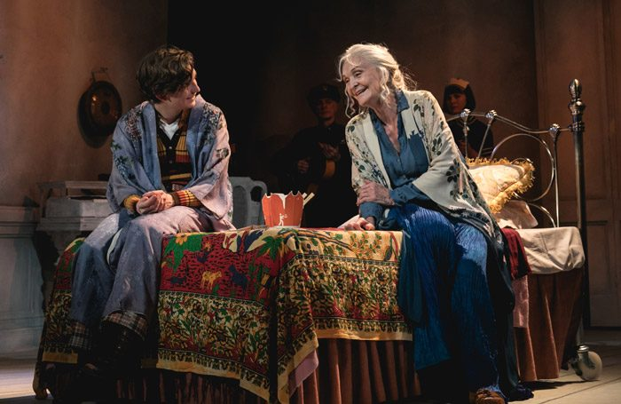 Bill Milner and Sheila-Hancock in Harold and Maude at Charing Cross Theatre, London. Photo: Darren Bell