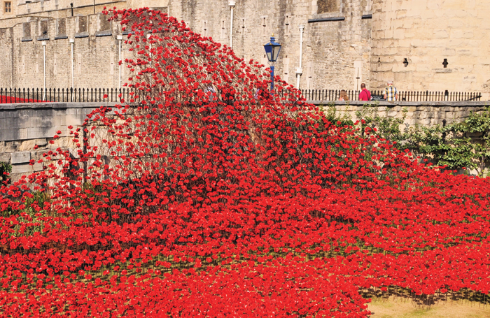 Piper's work Blood Swept Lands and Seas of Red at the Tower of London in 2014. Photo: Shutterstock