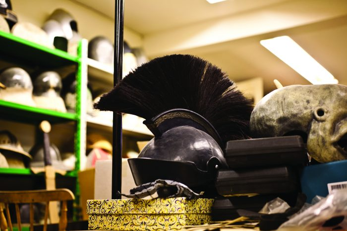Roman helmet in a costume department – do you have one at home?