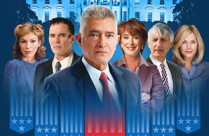 Poster for The Best Man at the Playhouse Theatre, with Martin Shaw centre