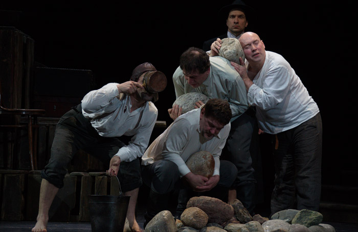Vakhtangov State Academic Theatre of Russia's Smile Upon Us, Lord at Barbican Theatre, London. Photo: Valeriy Miasnikov