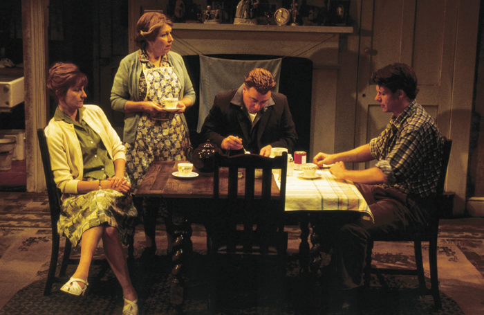 Wendy Nottingham, Anne Reid, Ian Mercer and Lloyd Owen at London's Royal Court production of The York Realist in 2001. Photo: Ivan Kyncl