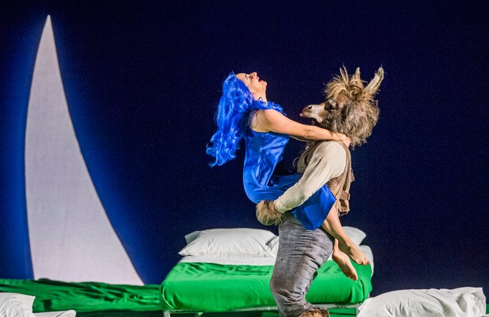 Soraya Mafi and Joshua Bloom in A Midsummer Night's Dream at London Coliseum. Photo: Tristram Kenton