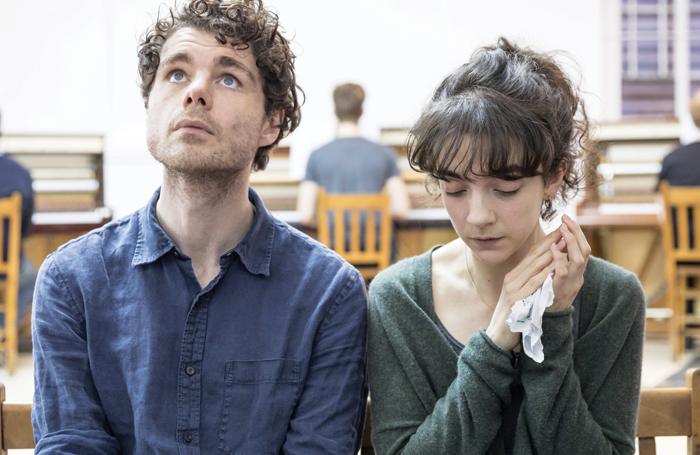 Matthew Needham and Patsy Ferran in rehearsals for Summer and Smoke. Photo: Marc Brenner