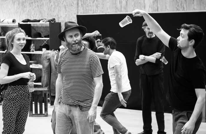 Everyman Company in rehearsals for Paint Your Wagon. Photo: Brian Roberts