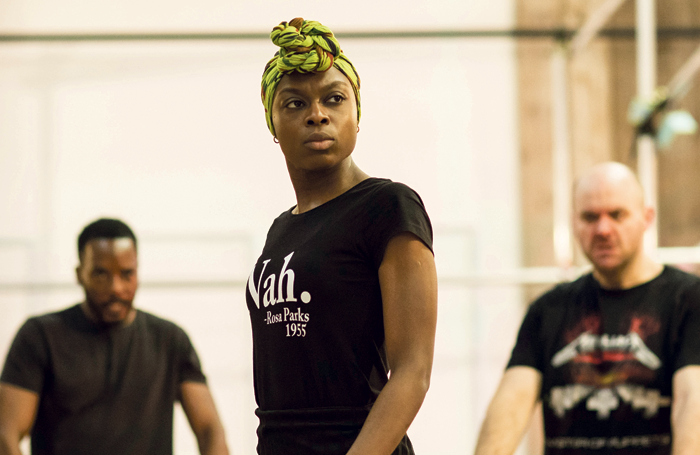 Joan Iyola in rehearsals for The Duchess of Malfi. Photo: Helen Maybanks