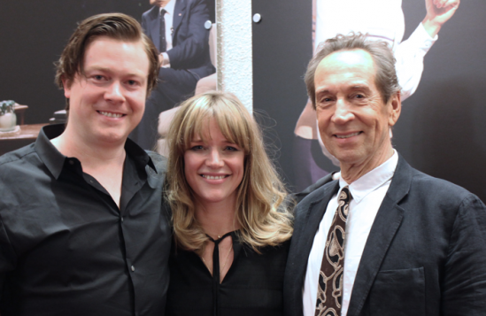 Daniel Rigby, Kate Hewitt and Jonathan Hyde. Photo: Maisie Burn