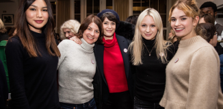 Actor Gemma Chan, director Moira Buffini and actors Gemma Arterton, Emily Berrington and Lily-James at the BAFAT Era 50:50 event. Photo: Sophie Mutevelian