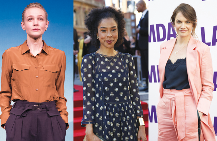 Carey Mulligan, Sophie Okonedo and Ruth Wilson are among the theatre stars who signed a Time's Up letter ahead of the BAFTAs calling for action . Photos: Mark Brenner, Ed Miles, Pamela-Raith