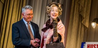 Martin Shaw and Maureen Lipman in The Best Man at Playhouse Theatre, London. Photo: Tristram Kenton