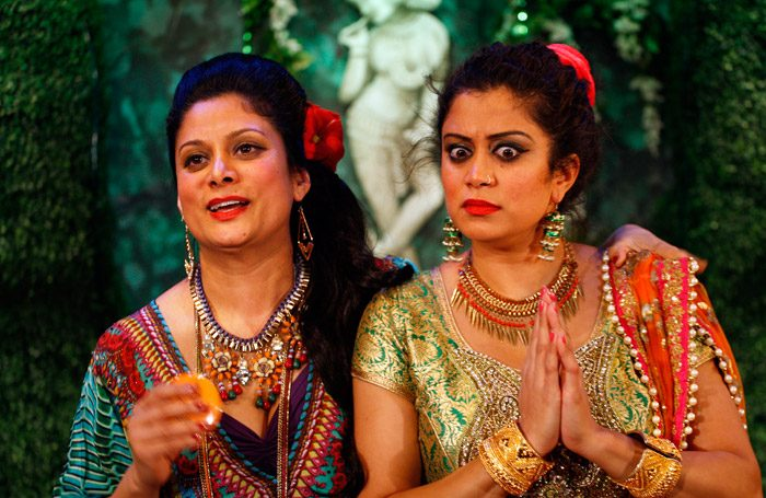 Scene from The Game of Love and Chai at Tara Theatre, London. Photo: Simon Annand