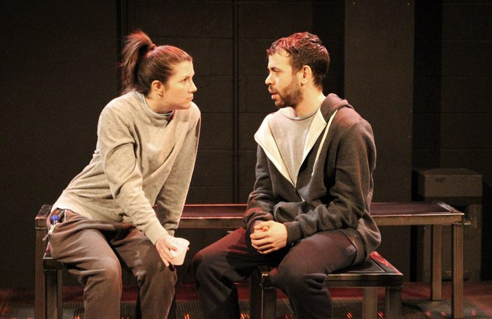 Sarah McDonald-Hughes and Curtis Cole in Sherbet at Octagon Theatre, Bolton