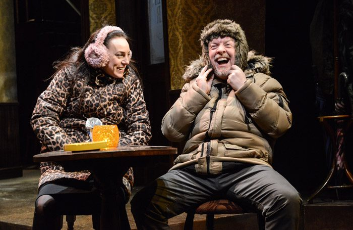 Jo Mousley and Sean McKenzie in Two at Derby Theatre. Photo: Robert Day