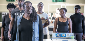 Sharon D Clarke and the cast in rehearsals for Caroline, Or Change. Photo: Marc Brenner