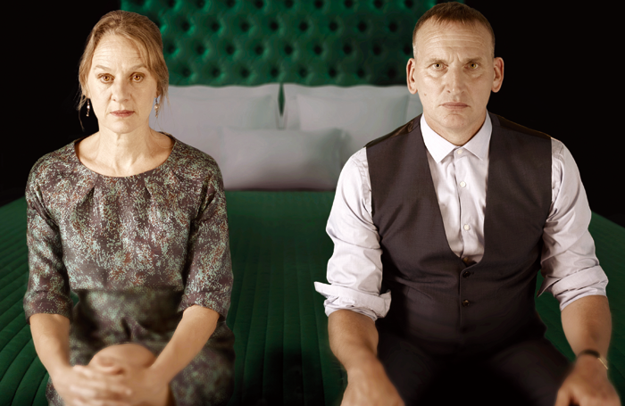 Niamh Cusack and Christopher Eccleston in Macbeth. Photo: Paul Stuart
