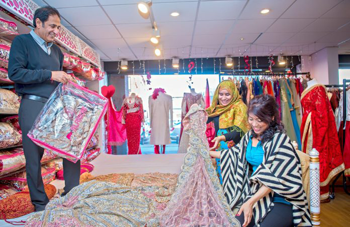 Handlooms will be performed in sari shops in Manchester. Photo: Anthony Robling