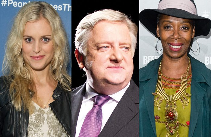 Denise Gough, Simon Russell Beale and Noma Dumezweni. Photos: Craig Sugden, Tristram Kenton and Getty Images