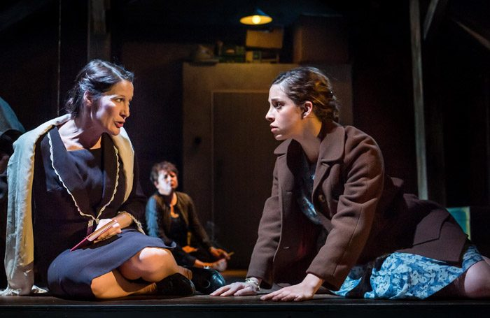 Catherine Janke and Leila Schaus in Kindertransport at Queen's Theatre, Hornchurch. Photo: Mark Sepple