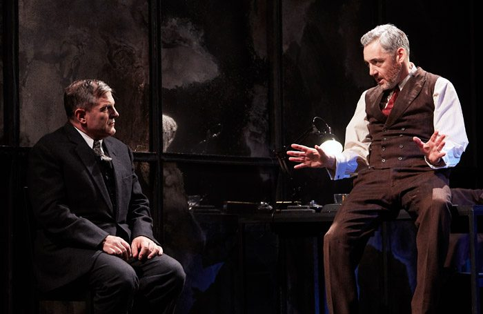 Michael Matus and Michael Higgs in Broken Glass at Watford Palace Theatre. Photo: The Other Richard