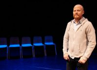 Seth Kriebel in Beowulf at Battersea Arts Centre, London