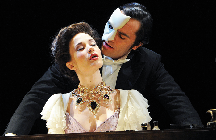 Ramin Karimloo and Sierra Boggess in Love Never Dies, London's Adelphi Theatre, 2010. Photo: Tristram Kenton