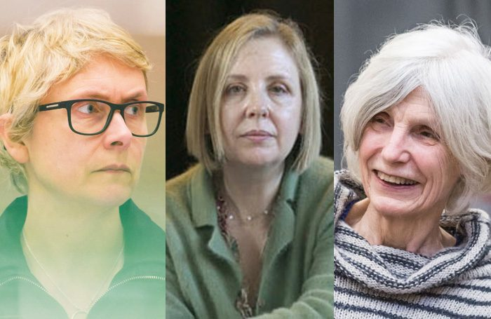 Tonic awards winners Katie Mitchell, Lyn Gardner and Caryl Churchill. Credits: Stephen Cummiskey, Frank Baron and Marc Brenner