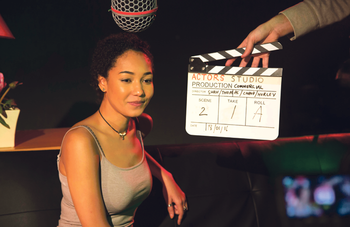 Student on Actors Studio's screen acting course. Photo: Anna Chand