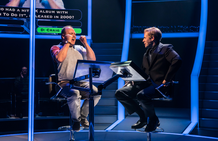Gavin Spokes and Keir Charles in Chichester's 2017 production of Quiz. Photo: Johan Persson