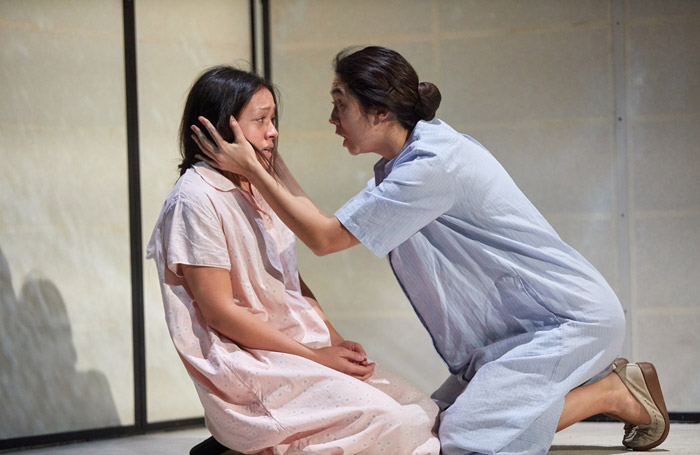 Francis Mayli McCann and Kirsty Rider in The Great Wave at the National Theatre, London. Photo: Mark Douet