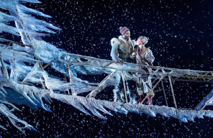 Jelani Alladin and Patti Murin in Frozen. Photo: Deen van Meer