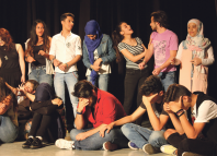 Maya Zbib's Zoukak collective conducting drama therapy sessions in Beirut