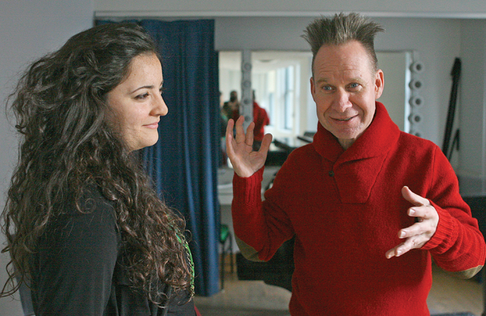 Zbib in Chicago in discussion with her mentor, US director Peter Sellars