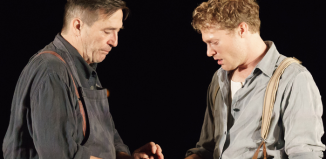 Ciaran Hinds and Sam Reid in Girl from the North Country at The Old Vic. Photo by Manuel Harlan