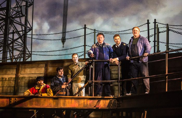 The cast of The Last Ship at Northern Stage, Newcastle-upon-Tyne. Photo: Pamela Raith