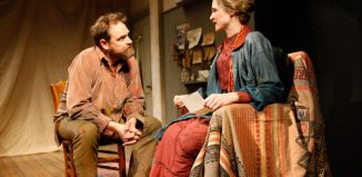Matthew Flynn and Naomi Frederick in Agnes Colander at Ustinov Studio, Bath. Photo: Simon Annand