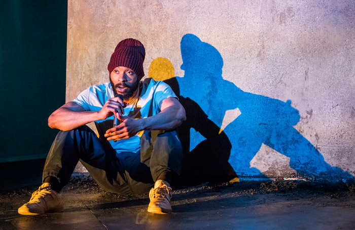 Arinze Kene in Misty at Bush Theatre, London. Photo: Tristram Kenton
