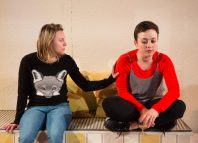 Clare Humphrey and Eleanor Jackson in Eastern Angles' Guesthouse