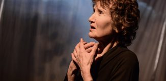 Elizabeth Mansfield as Edith Piaf in Hymn to Love at Theatre by the Lake, Keswick. Photo: Robert Day