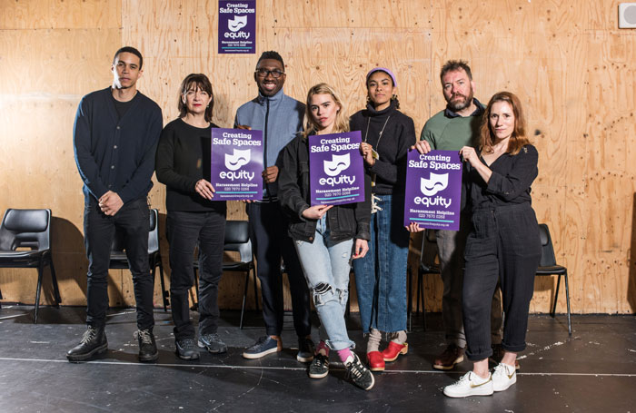 Billie Piper and the cast of Yerma, with Young Vic artistic director Kwame Kwei-Armah, kick-start Equity's Safe Space campaign. Photo: Philip Hartley