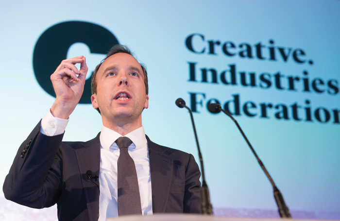 Culture secretary Matt Hancock at the CIF event