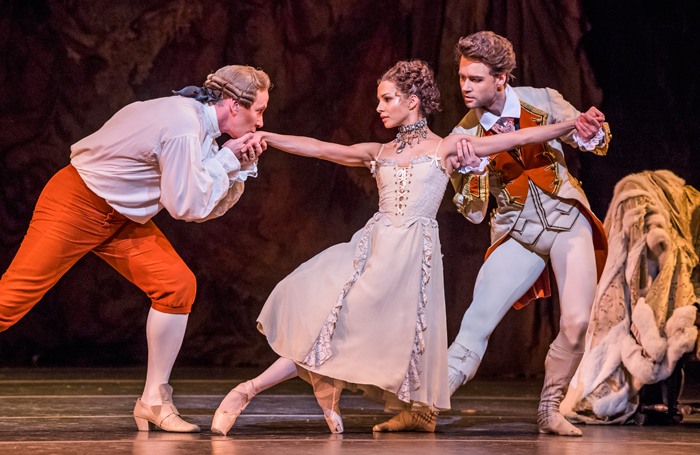 Christopher Saunders, Francesca Hayward and Alexander Campbell in Manon. Photo: Tristram Kenton
